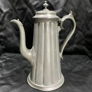 Antique James Dixon And Sons Pewter Coffee Pot 4049 Sheffield Early 1900andrsquos