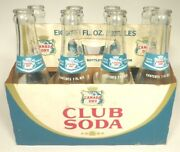 Vintage Acl Pop Soda Bottles Carrier And 8 Bottles 7oz Canada Dry Club Soda