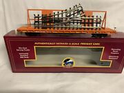 ✅mth Premier Norfolk Southern Ns 60and039 Flat Car Scaletrax Switch Load Mow Crane