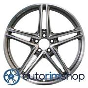 Mercedes Gt-c 2017-2018 20 Oem Amg Rear Wheel Rim Machined With Charcoal