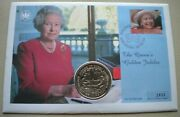 2002 The Queenand039s Golden Jubilee One Dollar Coin First Day Cover Pnc