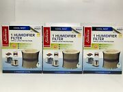 Sunbeam Cool Mist Humidifier Filter Sf206 Replacement Filter Lot Of 3 New