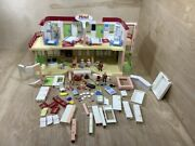 Playmobil 5265 Large Furnished Hotel Lot Pieces Furniture Accessories Incomplete