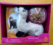 Nib Our Generation Plush Pet Ferret Set 18 Doll Food Bag And Bowl Sold Out