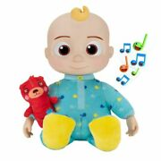 Free Shipping Musical Cocomelon Plush Bedtime Jj Doll, 10in With Sound