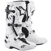 Alpinestars Tech 10 Supervented Motocross Offroad Mx Race Boots White Adults