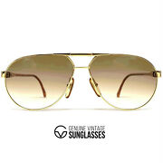 Nos Vintage Carrera 5362 Gold Sunglasses - Hard To Find Model - 80and039s Austria