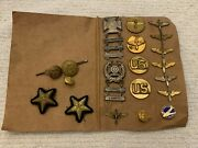 Wwii Us Army Air Corp Insignia And Medal Collection