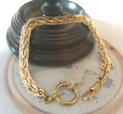 Antique Pocket Watch Chain 1920s Large Brass Fancy Link Albert New Old Stock