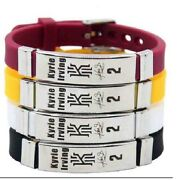 Stock 10 Nba Basketball Bracelet Silicon Stainless Steel Adjustable Kyrie Irving