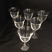 Lalique Crystal, France Barsac Water Wine Glass Or Goblet Set Of Six. Flawless