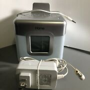 Ihome Glow Tunes Led Color Changing Speaker/alarm Clock/ Radio W/ Charging Works
