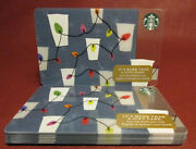 Lot Of 10 Starbucks, 2017 Christmas Light Cups Gift Cards New Unused