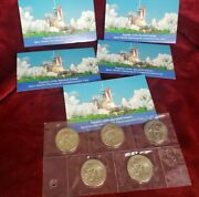 1988 Marshall Islands And039launch Of Space Shuttle Discoveryand039 5 Dollar Coin Lot Of 5