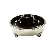 Antique Sterling Silver And Shell 5 Trinket Box - Mappin And Webb 1931