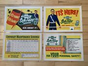 Nos Vintage 1950andrsquos Chevrolet Sign Lot Of 4 Counter Signs Service Display Rare
