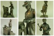 Franklin Mint The People Of The Old West And The Colonial Peddlers Fine Pewter