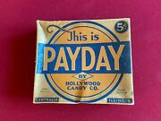 1940and039s Payday Candy Bar Display Box Scarce / Vintage