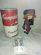 2 Vintage Campbell's Soup Kids Porcelain Doll In Can/tin Scottish Boy And Girl Lot
