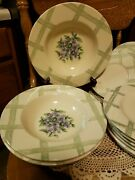 Pfaltzgraff Garden Party Set Of 15 Wide Rimmed Soup Bowls And Salad Plates And Xtra