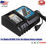 Battery Charger For Makita 14.4-18v Lxt Lithium Ion Bl1860b Bl1830b Bl1850b Us