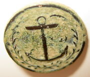 Revolutionary War Small Antique French Navy Button Artifact / George Washington