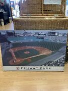 Vintage Fenway Park Boston Red Sox Late 1980's Photo On Framed Cardboard 34x23