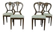 50940ec Set Of 4 Karges Italian Style Walnut Dining Chairs