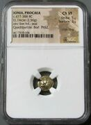 477-388 Bc Greece Ionia Phocaea Gold-el Hecte 1/6 Stater Lion Ngc Choice Vf 5/3