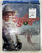 A Christmas Story Steelbook Blu-ray+dvd, 2013, 30th Anniversary With Cover