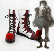 Halloween Stephen King It 2020 Movie Pennywise Cosplay Clown Boots Shoes