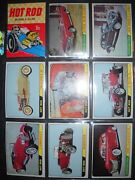 1964 Hot Rods Complete66 Card Set + Wrapper Topps Rare Pink/gray Back Set