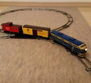 Tinplate Toy Train Diesel Locomotive 3 Car Formation Made In Japan