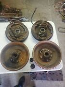 1940-47 Packard Clipper Six Rear Brake Drum And Backing Plates Set