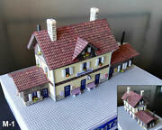 M1 Built Up Train Station 110 Mm X 40 Mm 4.3 X 1.6 For Noch Z Layout