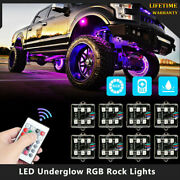 Led Underglow Rgb Rock Lights Multicolor Neon Strip Light For Off-road Truck Us