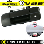 Tailgate Latch Handle For Toyota Tundra 2007-2013 Textured With Keyhole Black