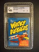 1975 Wacky Packages Pack 15th Series Graded Gai 7 Topps