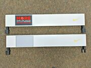 2 Store Display Nike Double Sided Sign Swoosh Sports Large Retail Advertising