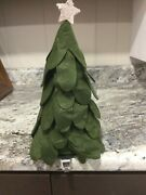 Pottery Barn Kids Felted Faux Tree Stocking Holder Christmas Decor New Sold Out