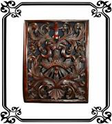 Vintage French Antique Carved Religious Panel 19th
