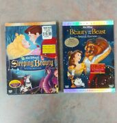 Disney Dvd Lot Of 2 Sleeping Beauty And Beauty The Beast Special Edition