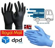 Disposable Nitrile Gloves Blue And Black 100 Powder Free Latex Free S M L Xl