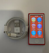 Apple Ipod Nano 7th Generation Red 16 Gb See Pictures