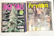 6 Lot Vintage High Times And Motorcycle Magazines Foxyriders American Iron Krupps
