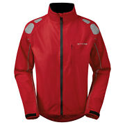 Ettore Mens Cycling Jacket Waterproof Breathable High Vis Red - Night Eagle