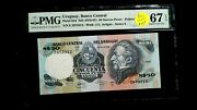 1978-87 Pmg Gem Unc 67 Epq Uruguay Central Bank Fifty Pesos 50p Note Buy It Now