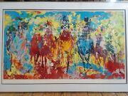 Original Serigraph Leroy Neiman Stretch Stampede 1979 Numbered And Signed