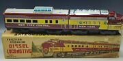 Friction Tin 1950's Sande Streamlined Diesel Locomotive N.y. Central Toy With Box