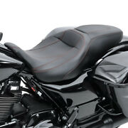 Seat For Harley Ultra Limited Low 15-19 Comfort Seat Rh4 Blk-rd